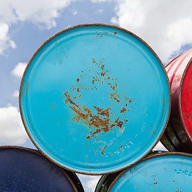 Colorful oil barrels