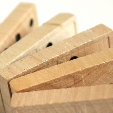 Stack of wood dominos