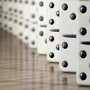 Row of dominos