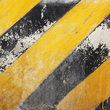 Yellow safety stripes