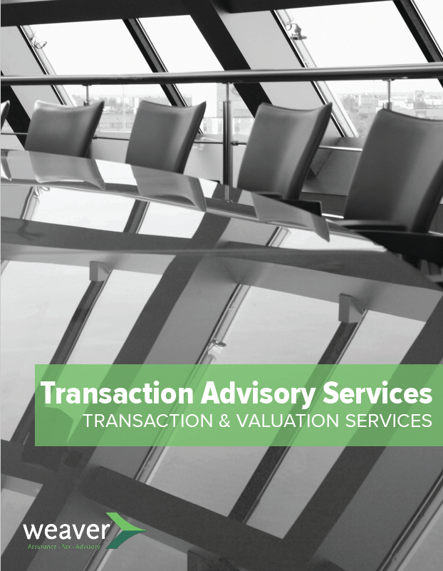 Transaction Advisory Services Brochure Cover