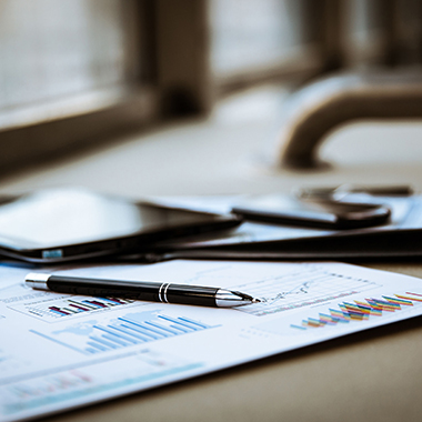 business financial report on desk