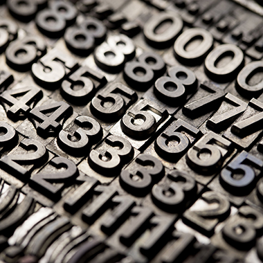 Vintage Letterpress Alphabet and Numbers