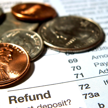 Income Tax Refund & Coins