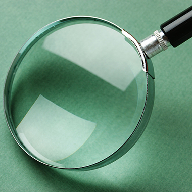 Magnifying Glass on Green Page
