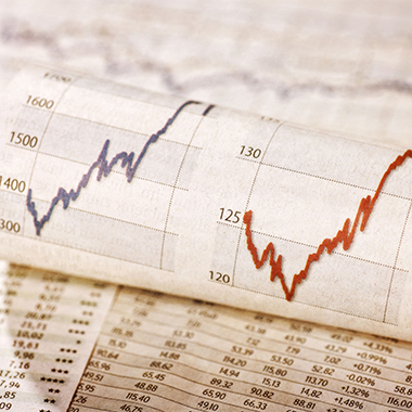 Share Prices and Exchange Rate Tables & Upward Trend Graphs