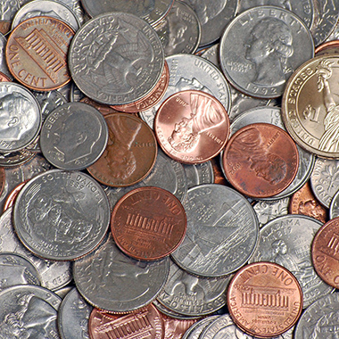 Pile of US Coins
