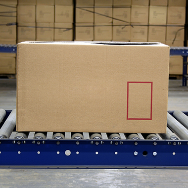 Cardboard Box on Assembly Line
