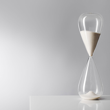 Clear Hourglass