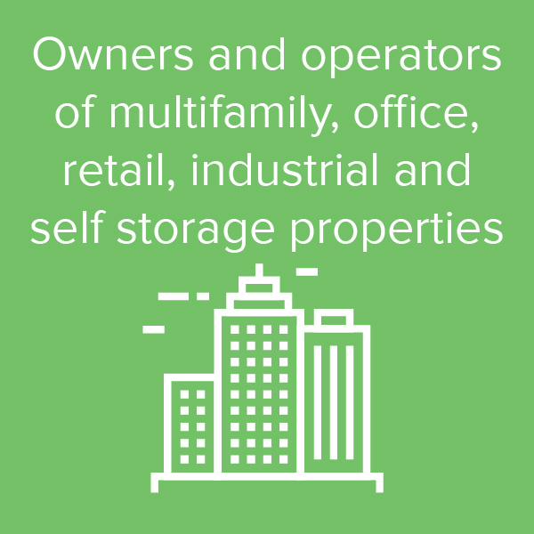 Owners and operators of multifamily, office, retail industrial and self storage properties