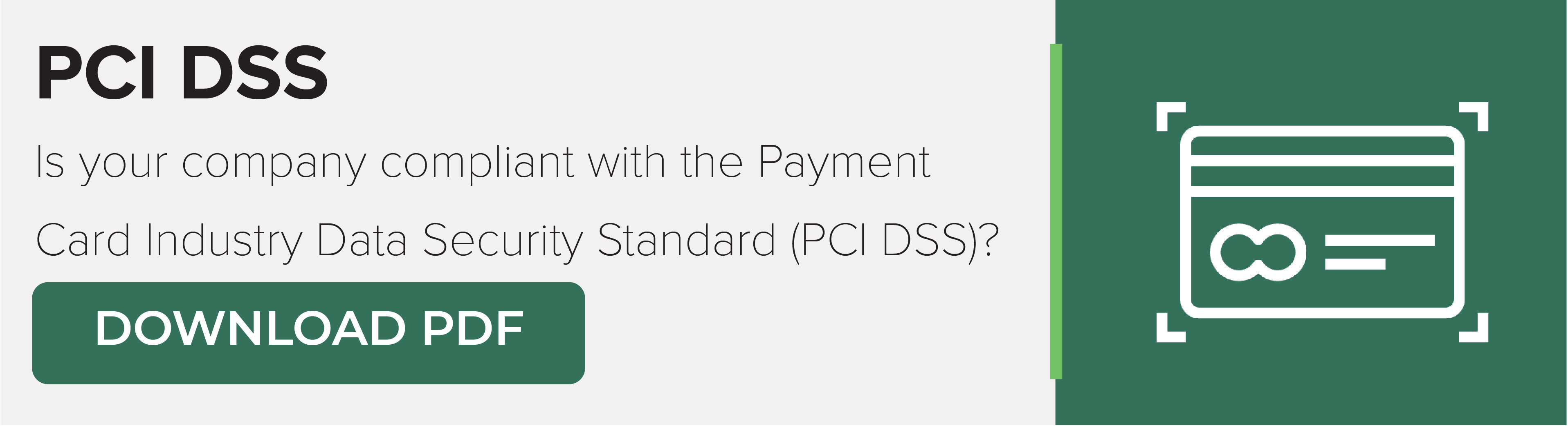 PCI DSS Download Button