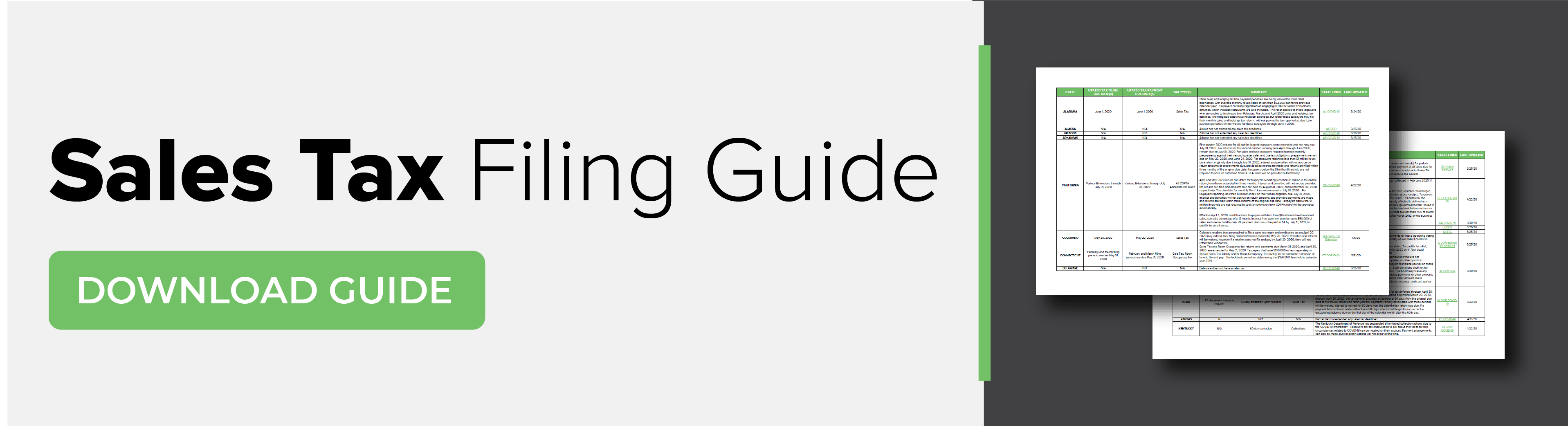 Sales Tax Filing Guide Download Guide