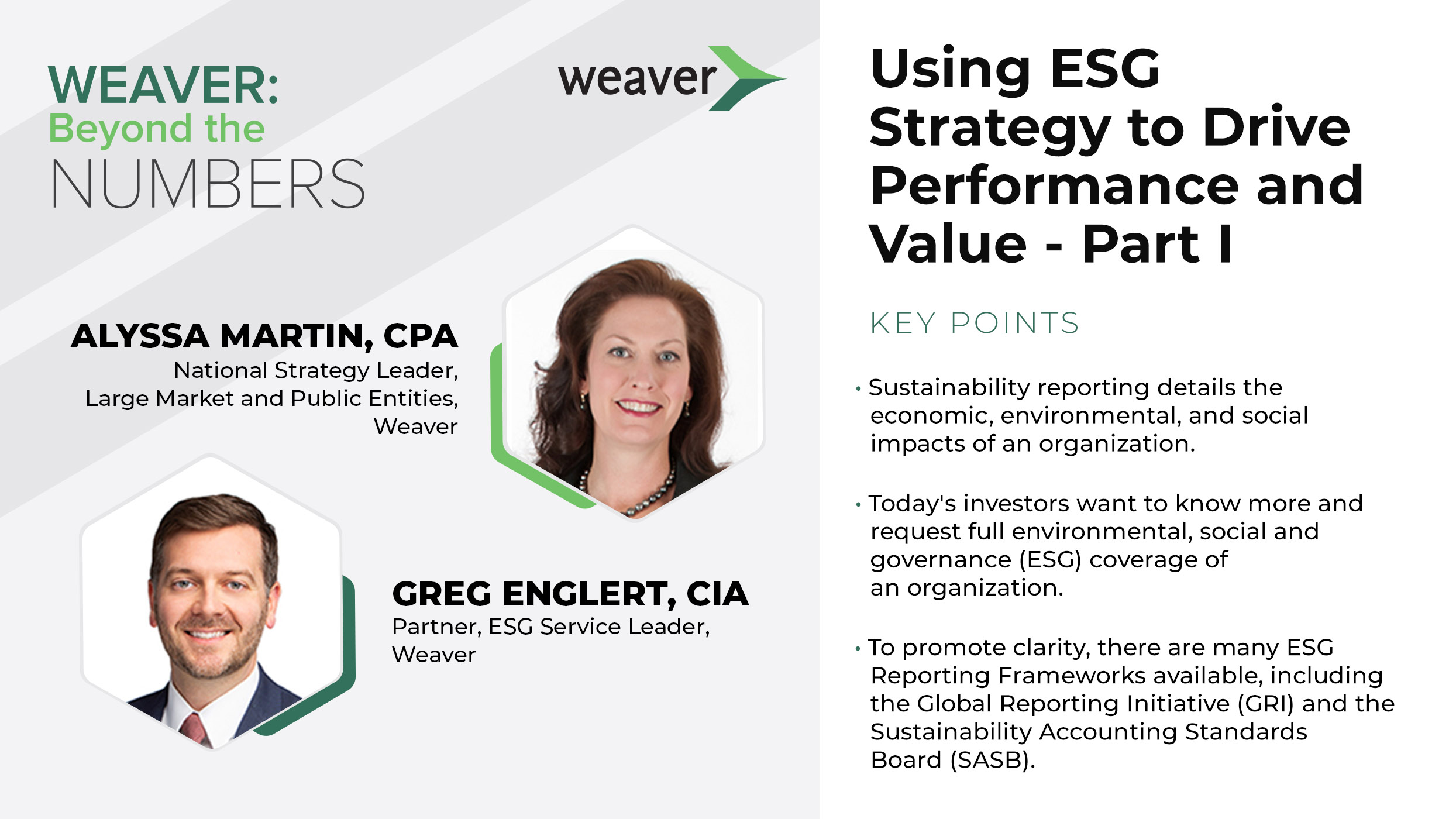 Podcast: Using ESG Strategy to Drive Performance and Value, Part I
